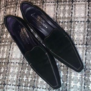 Donald J Pliner Couture Black Suede
